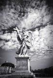 Μαρμάρινο άγαλμα Bernini του αγγέλου Στοκ Εικόνες