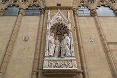 Μαρμάρινο άγαλμα 4 στεμμένων μαρτύρων της ομάδας τεσσάρων Αγίων από Nanni Στοκ εικόνες με δικαίωμα ελεύθερης χρήσης