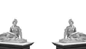 Μαρμάρινο άγαλμα της ελληνικής θεάς Aphrodite που απομονώνεται στο άσπρο υπόβαθρο με τη θέση για το κείμενό σας Στοκ Εικόνες