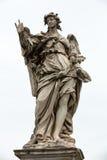 Μαρμάρινο άγαλμα του αγγέλου από τη γέφυρα Sant ` Angelo στη Ρώμη, Στοκ εικόνα με δικαίωμα ελεύθερης χρήσης