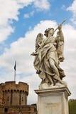 Μαρμάρινο άγαλμα του αγγέλου από Bernini στα πλαίσια χυτός Στοκ Φωτογραφίες