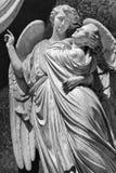 Μαρμάρινο άγαλμα του angellic ζεύγους στη Φλωρεντία, Ιταλία Στοκ εικόνες με δικαίωμα ελεύθερης χρήσης