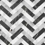 Μαρμάρινο άνευ ραφής σχέδιο ψαροκόκκαλων πολυτέλειας Στοκ Εικόνα