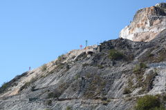 Μαρμάρινο λατομείο όρη apuan Massa και επαρχία του Καρράρα Τοσκάνη Ιταλία Στοκ Φωτογραφίες