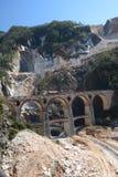 Μαρμάρινο λατομείο Fantiscritti όρη apuan Massa και επαρχία του Καρράρα Τοσκάνη Ιταλία Στοκ φωτογραφία με δικαίωμα ελεύθερης χρήσης