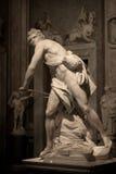 Μαρμάρινο γλυπτό Δαβίδ από το Gian Lorenzo Bernini Στοκ Εικόνες