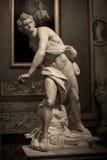 Μαρμάρινο γλυπτό Δαβίδ από το Gian Lorenzo Bernini Στοκ εικόνες με δικαίωμα ελεύθερης χρήσης
