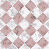 Μαρμάρινο διαγώνιο άνευ ραφής σχέδιο ελέγχου πολυτέλειας Στοκ φωτογραφία με δικαίωμα ελεύθερης χρήσης