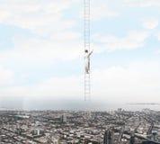 μαρμάρινο λευκό επιτυχίας σκαλών Στοκ Φωτογραφίες