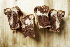 Μαρμάρινο κέικ λιβρών Στοκ Εικόνες