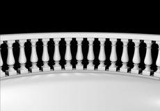 μαρμάρινο λευκό μπαλκονι Στοκ φωτογραφία με δικαίωμα ελεύθερης χρήσης
