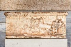 Μαρμάρινο μουσείο Αθήνα αγορών αναγλύφου Bas Στοκ Εικόνα