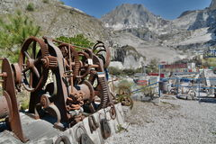 Μαρμάρινο μουσείο λατομείων Fantiscritti όρη apuan Massa και επαρχία του Καρράρα Τοσκάνη Ιταλία Στοκ Εικόνες