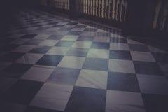 Μαρμάρινο πάτωμα, εσωτερικό παλάτι, Alcazar de Τολέδο, Ισπανία Στοκ Φωτογραφία
