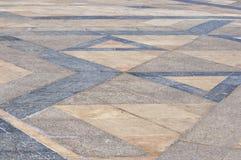 Μαρμάρινο πάτωμα Hassan ΙΙ plaza μουσουλμανικών τεμενών, Καζαμπλάνκα στοκ φωτογραφίες