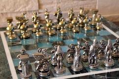 Μαρμάρινο σύνολο σκακιού Στοκ εικόνες με δικαίωμα ελεύθερης χρήσης