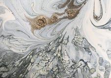 Μαρμάρινο υπόβαθρο με τη χρυσή σκόνη Στοκ Εικόνες