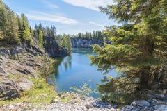 Μαρμάρινο φαράγγι - πάρκο βουνών Ruskeala, Καρελία, Ρωσία στοκ εικόνες με δικαίωμα ελεύθερης χρήσης