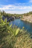 Μαρμάρινο φαράγγι - πάρκο βουνών Ruskeala, Καρελία, Ρωσία στοκ φωτογραφίες με δικαίωμα ελεύθερης χρήσης