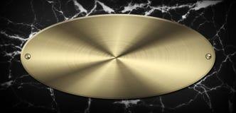 Μαρμάρινο χρυσό πιάτο Στοκ εικόνα με δικαίωμα ελεύθερης χρήσης