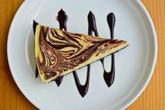 Μαρμάρινο cheesecake Στοκ Εικόνες