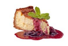 μαρμελάδα τυριών κέικ Στοκ Εικόνες