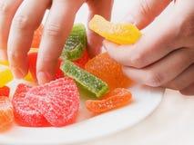 μαρμελάδα χεριών Στοκ φωτογραφίες με δικαίωμα ελεύθερης χρήσης