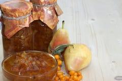 Μαρμελάδα αχλάδι-buckthorn Στοκ Φωτογραφία