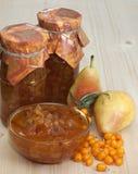 Μαρμελάδα αχλάδι-buckthorn Στοκ Εικόνες