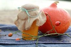 Μαρμελάδα κολοκύθας σε ένα βάζο Στοκ εικόνες με δικαίωμα ελεύθερης χρήσης