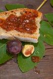 Μαρμελάδα ψωμιού και σύκων Στοκ Φωτογραφίες