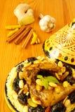 μαροκινά δαμάσκηνα κοτόπο& Στοκ Φωτογραφίες