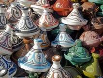 Μαροκινή αγγειοπλαστική Tajine Στοκ Εικόνα