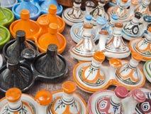 Μαροκινή αγγειοπλαστική Tajine Στοκ φωτογραφία με δικαίωμα ελεύθερης χρήσης