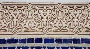 Μαροκινή γλυπτική Arabesque ασβεστοκονιάματος Στοκ Φωτογραφίες