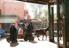μαροκινή οδός Στοκ Εικόνες