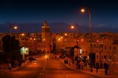 Μαροκινή πόλη νύχτας Στοκ φωτογραφίες με δικαίωμα ελεύθερης χρήσης