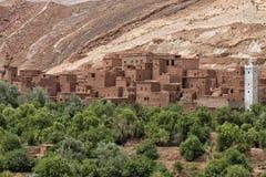 Μαροκινή τακτοποίηση στη διαδρομή Ait Ben Haddou Στοκ φωτογραφία με δικαίωμα ελεύθερης χρήσης