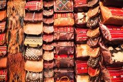 Μαροκινή τσάντα δέρματος Στοκ φωτογραφία με δικαίωμα ελεύθερης χρήσης
