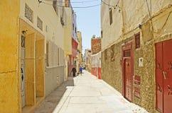Μαροκινός διπλανός δρόμος Στοκ Φωτογραφίες