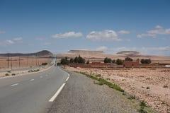 Μαροκινός δρόμος ερήμων Στοκ Φωτογραφία