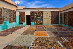 Μαροκινός τάπητας manufactory Στοκ εικόνες με δικαίωμα ελεύθερης χρήσης