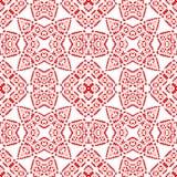 Μαροκινό κεραμίδι - άνευ ραφής σχέδιο Περίπλοκο κόκκινο σχέδιο, άσπρο υπόβαθρο απεικόνιση αποθεμάτων