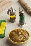 Μαροκινό μαύρο argan σαπούνι στο hammam Στοκ Εικόνες