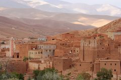 μαροκινό ορεινό χωριό Στοκ Εικόνες