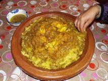 Μαροκινό πιάτο: Rfissa Στοκ Εικόνες