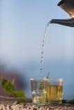 Μαροκινό πράσινο τσάι μεντών Στοκ εικόνα με δικαίωμα ελεύθερης χρήσης