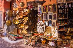 Μαροκινό σιδηρουργείο για την πώληση στοκ εικόνες με δικαίωμα ελεύθερης χρήσης