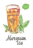 Μαροκινό τσάι διανυσματική απεικόνιση