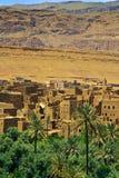 μαροκινό χωριό λόφων Στοκ Εικόνες